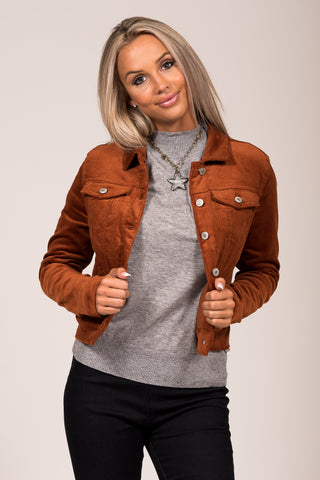 I Want Fabulous Jacket in Cinnamon