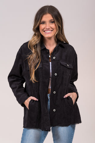 What Comes Next Jacket in Black
