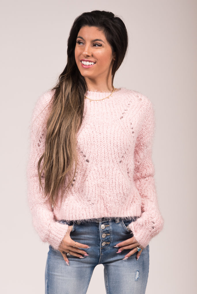 Hey Girl Hey Sweater in Pink