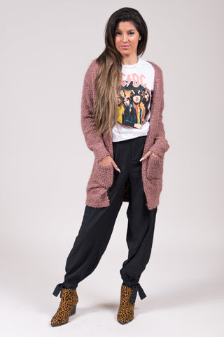 Positive Energy Cardigan in Mauve