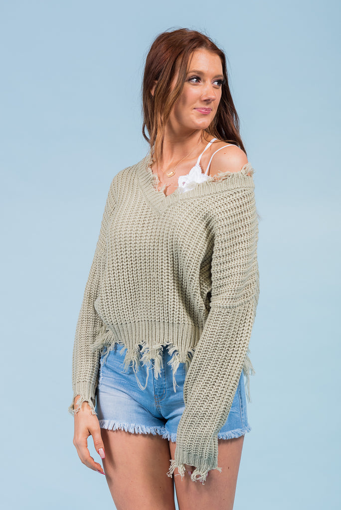Beautiful Soul Sweater in Moss
