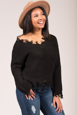 Beautiful Soul Sweater in Black