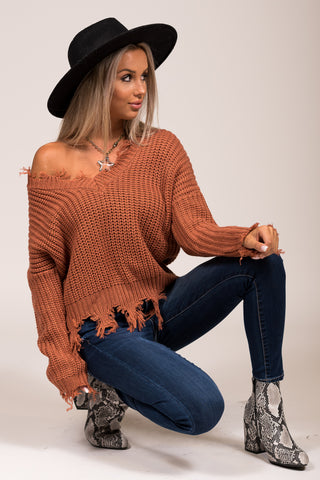 Beautiful Soul Sweater in Terra Cotta