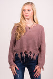 Beautiful Soul Sweater in Mauve