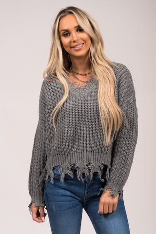 Beautiful Soul Sweater in Heather Grey