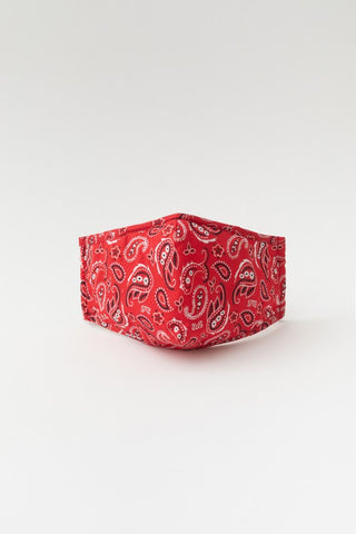 Face Mask - Red Paisley
