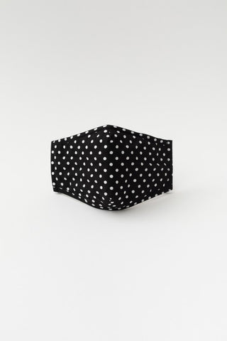 Face Mask - Black Polka Dot