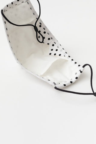 Face Mask - White Polka Dot