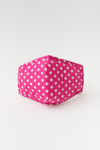 Face Mask - Pink Polka Dot