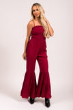 Celebrate You Jumpsuit in Burgundy