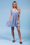 Fresh Focus Dress in Slate Blue
