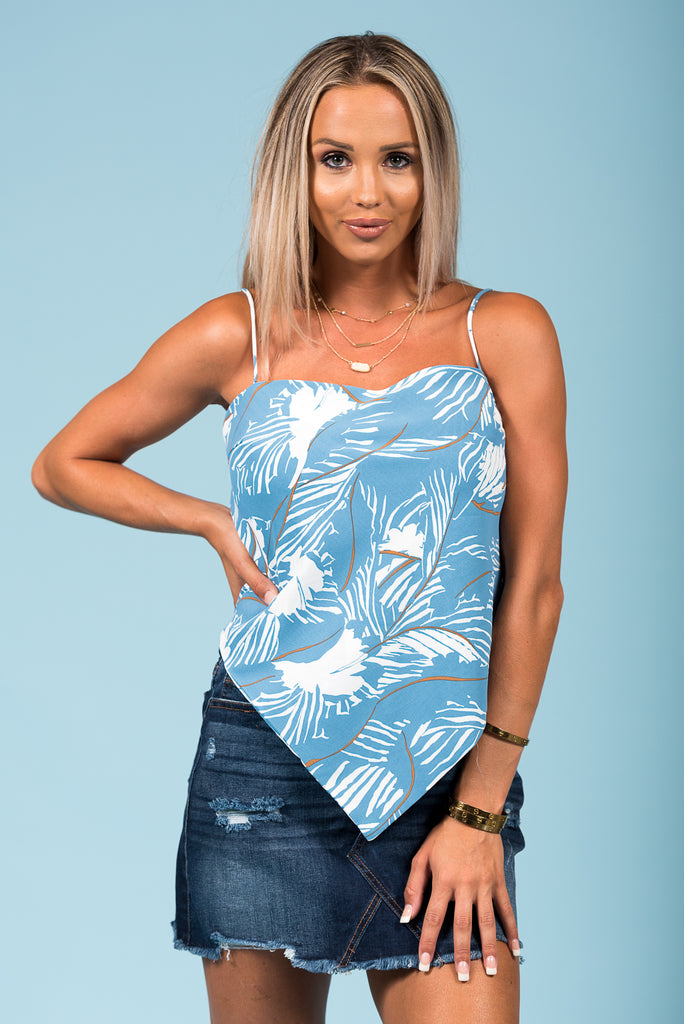 Tropical State of Mind Top in Blue