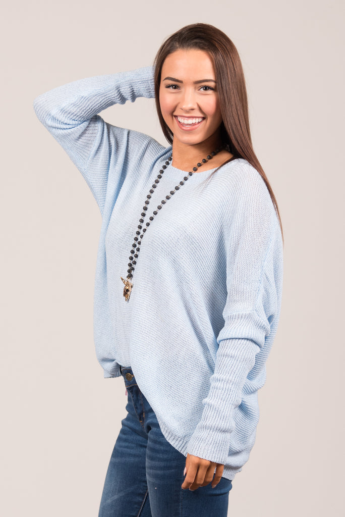 Easy Breezy Sweater in Sky Blue