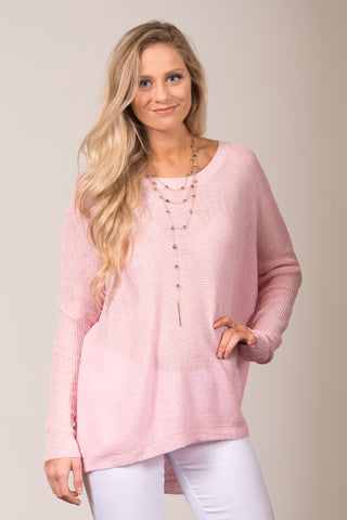 Easy Breezy Sweater in Pink