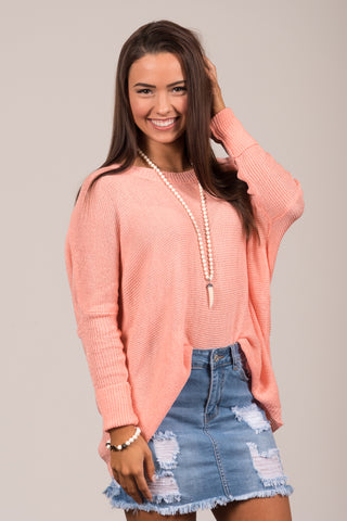 Easy Breezy Sweater in Dark Peach