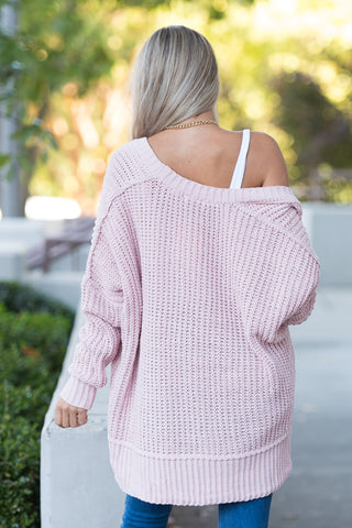 Perfect Places Cardigan in Blush
