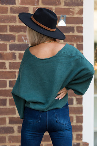 Everything I Wanted Sweater in Emerald