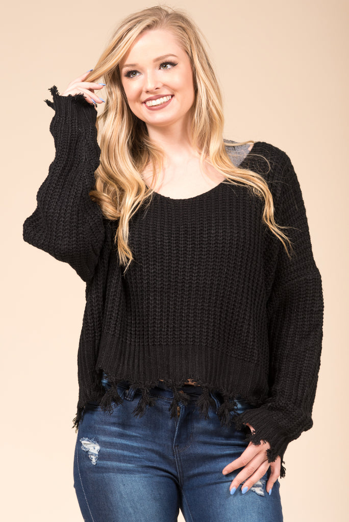Mountain Point Sweater in Black