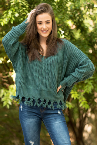Mountain Point Sweater in Teal