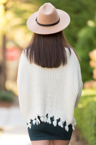 Mountain Point Sweater in Ivory