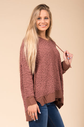 Warming Up Sweater in Red Bean