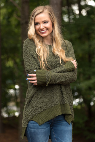 Warming Up Sweater in Olive