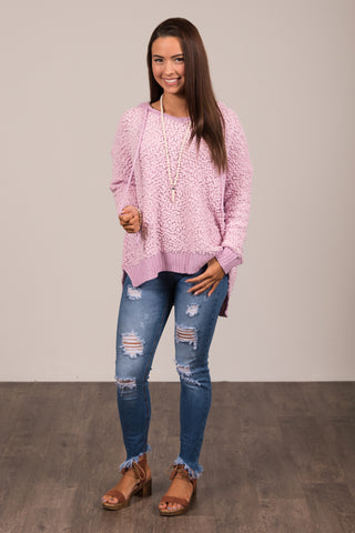 Warming Up Sweater in Pink