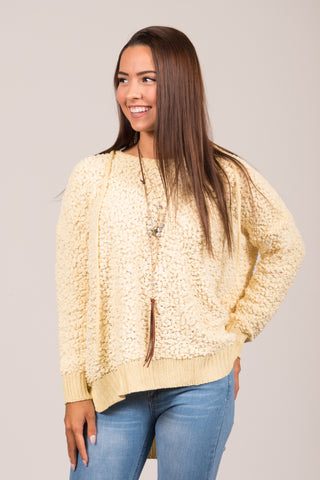 Warming Up Sweater in Yellow