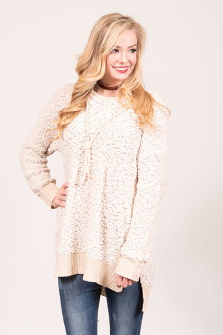 Silent Night Sweater in Beige