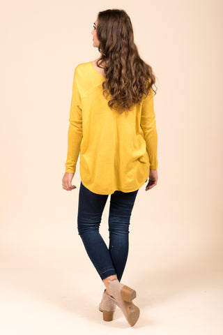 Perfectly Pasteled Sweater in Yellow
