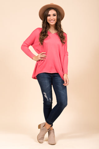 Perfectly Pasteled Sweater in Coral