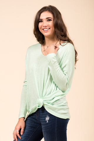Perfectly Pasteled Sweater in Light Mint