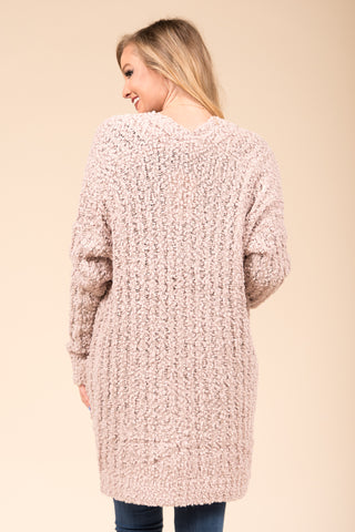 Stay the Night Cardigan in Nude