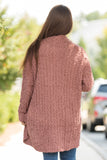 Stay the Night Cardigan in Red Bean