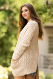 Stay the Night Cardigan in Beige