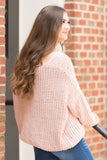 Let It Snow Sweater in Blush