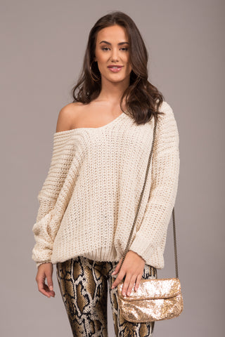 Let It Snow Sweater in Ivory
