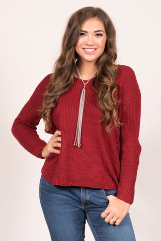 With a Twist Sweater in Red