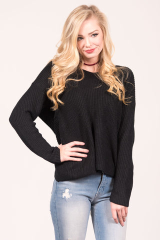 With a Twist Sweater in Black