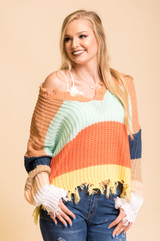 Over The Rainbow Sweater in Amber