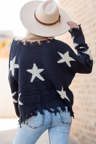 Twinkle, Twinkle Sweater in Navy