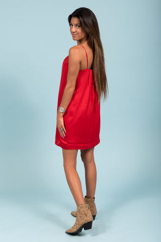 Stop and Stare Dress in Red
