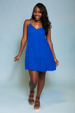 Sky High Dress in Capri Blue