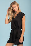Too Glam Romper in Black