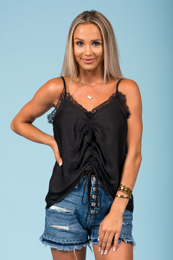 Wild Card Top in Black