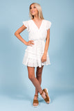 Heart Flutters Dress in White