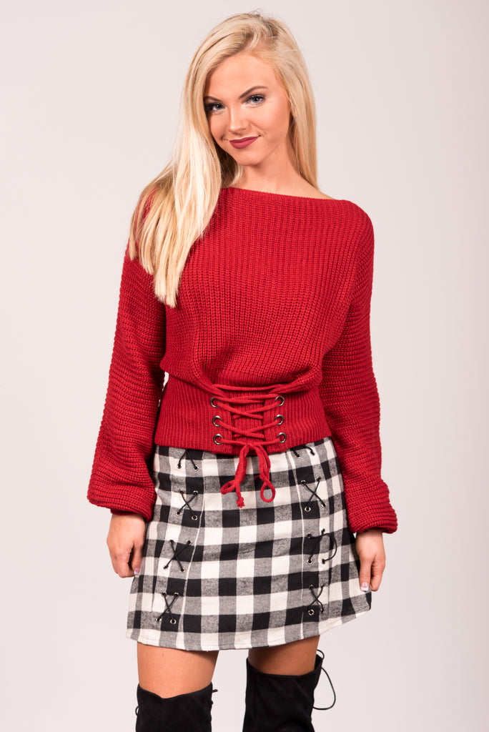 Holly Sweater in Red