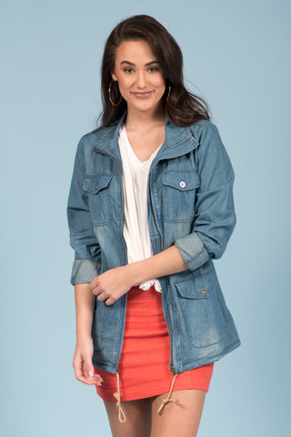 Want Your Love Jacket in Chambray