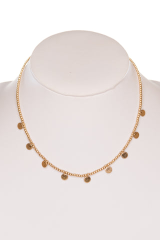 Skylar Necklace in Worn Gold