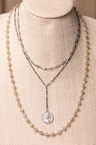 Kasey Necklace in Coin